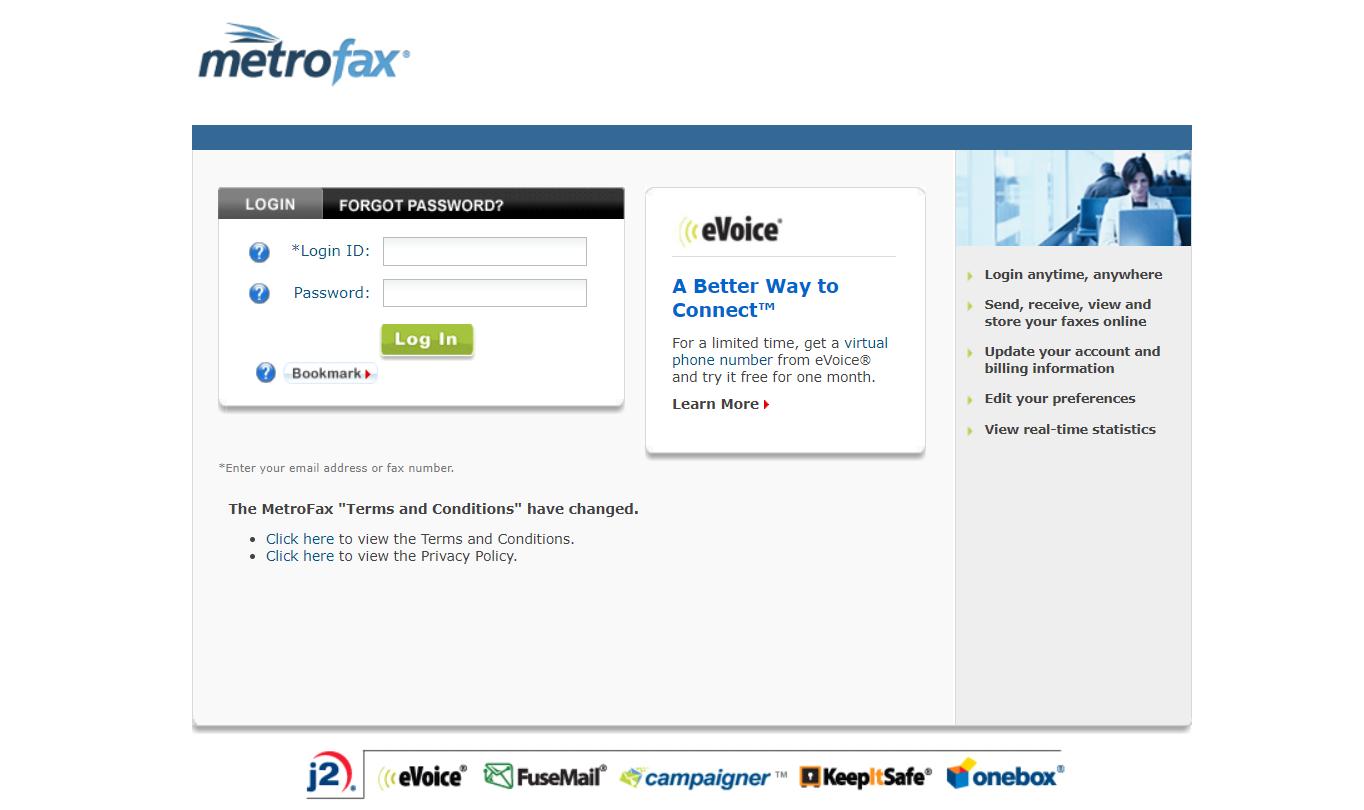 metrofax online fax service