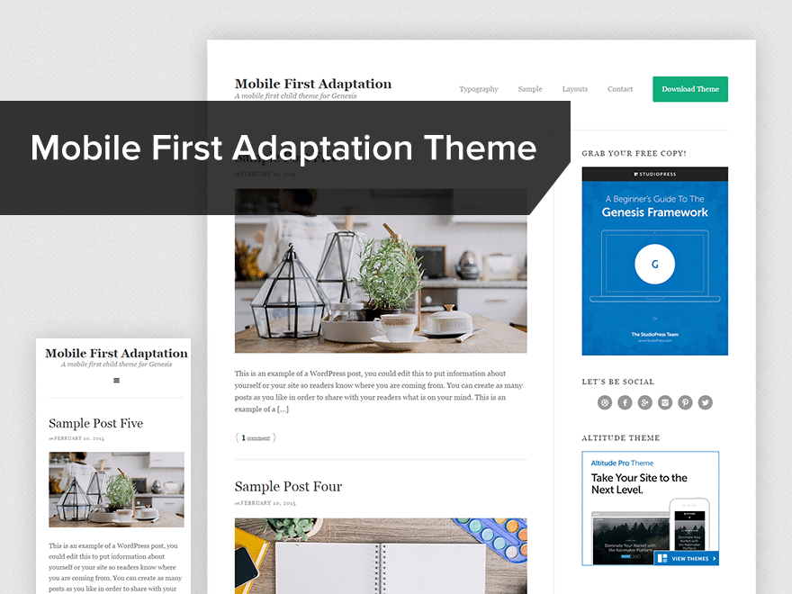 Mobile first adoption child-theme