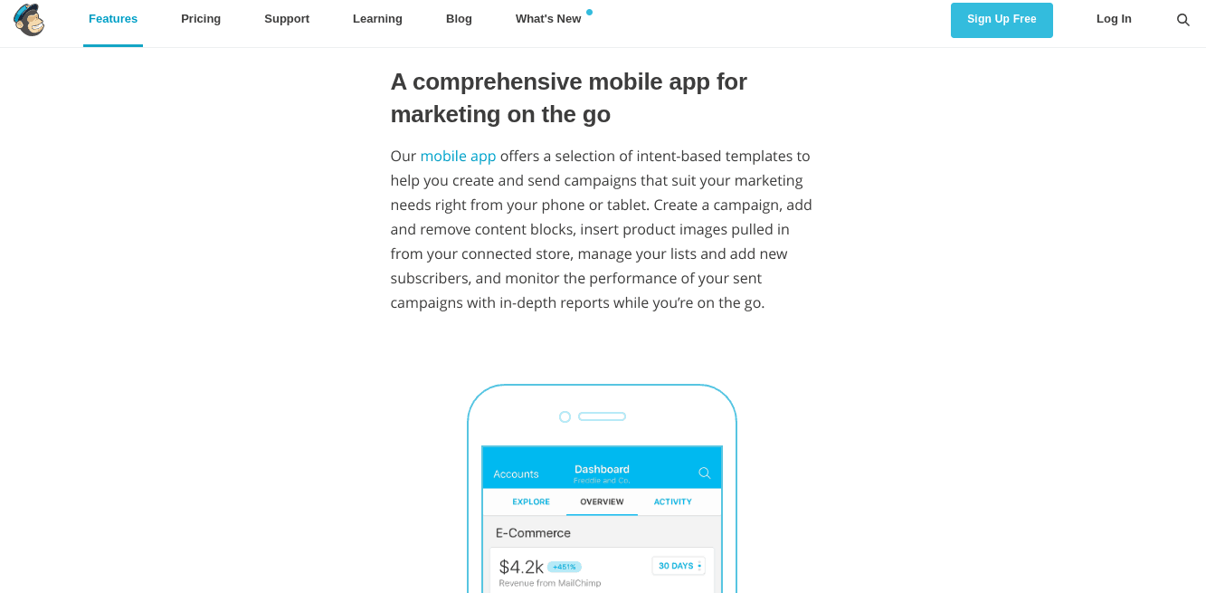 Mobile MailChimp Screenshot