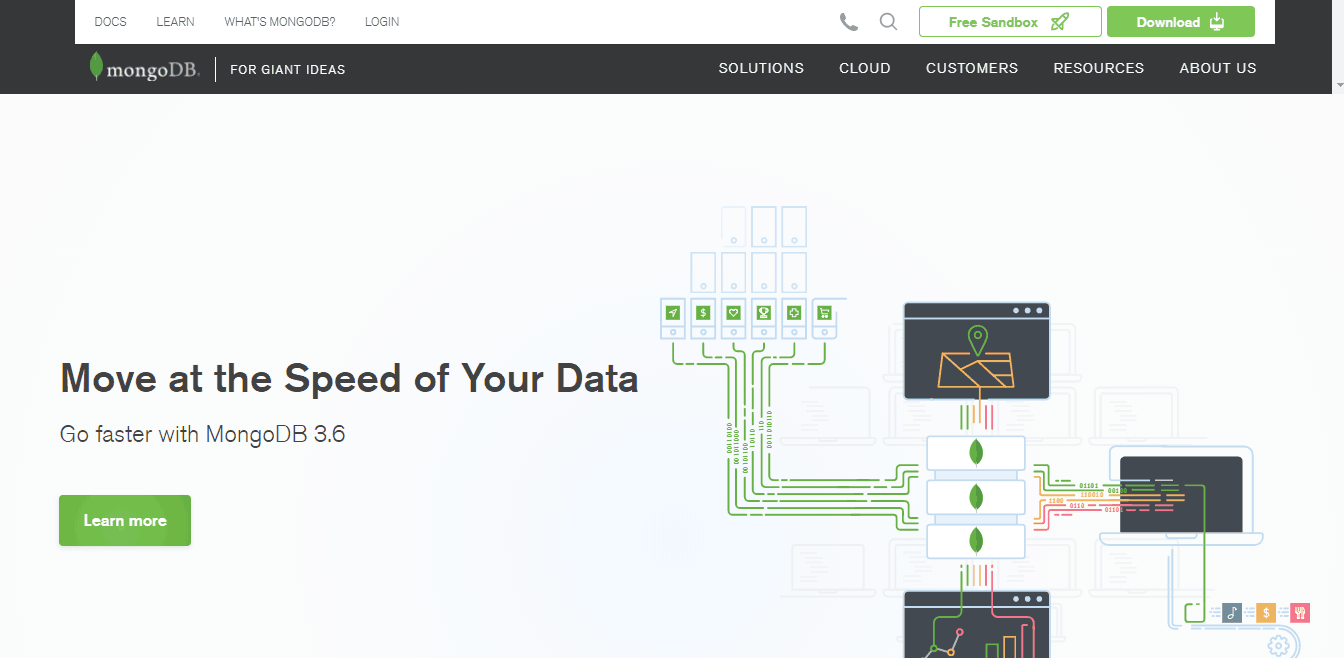 MongoDB cloud screenshot