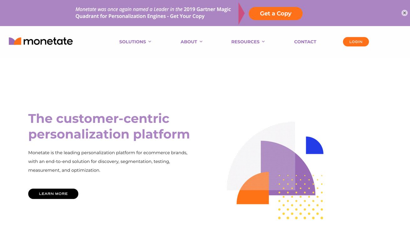 monetate homepage