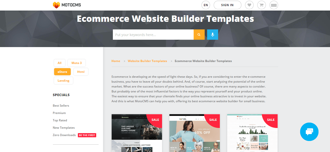 MotoCMS E-Commerce Templates