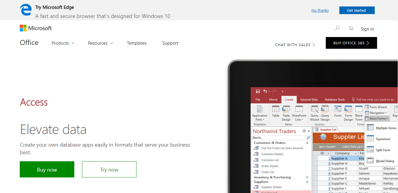 MS Access homepage