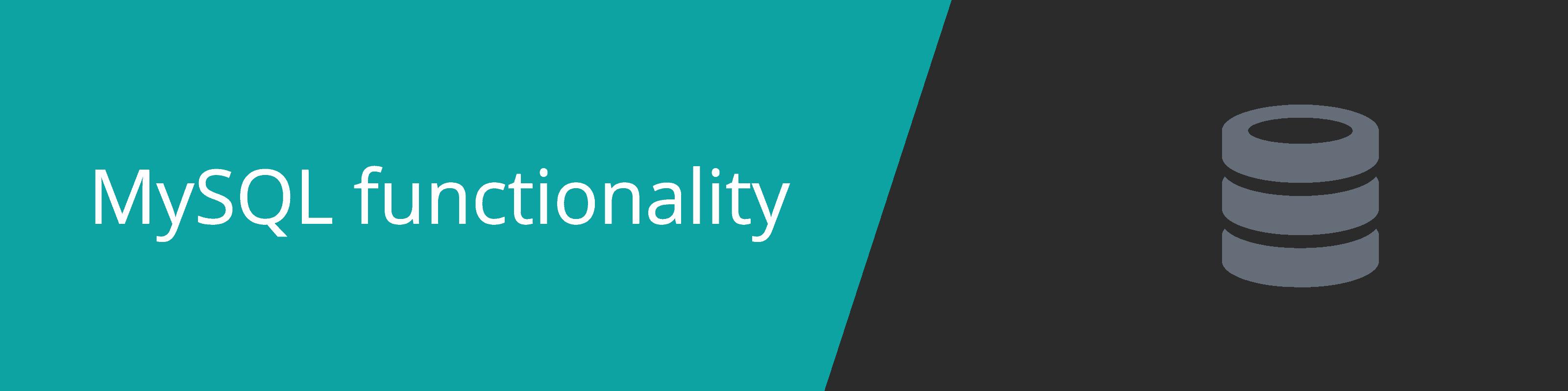 mysql functionality