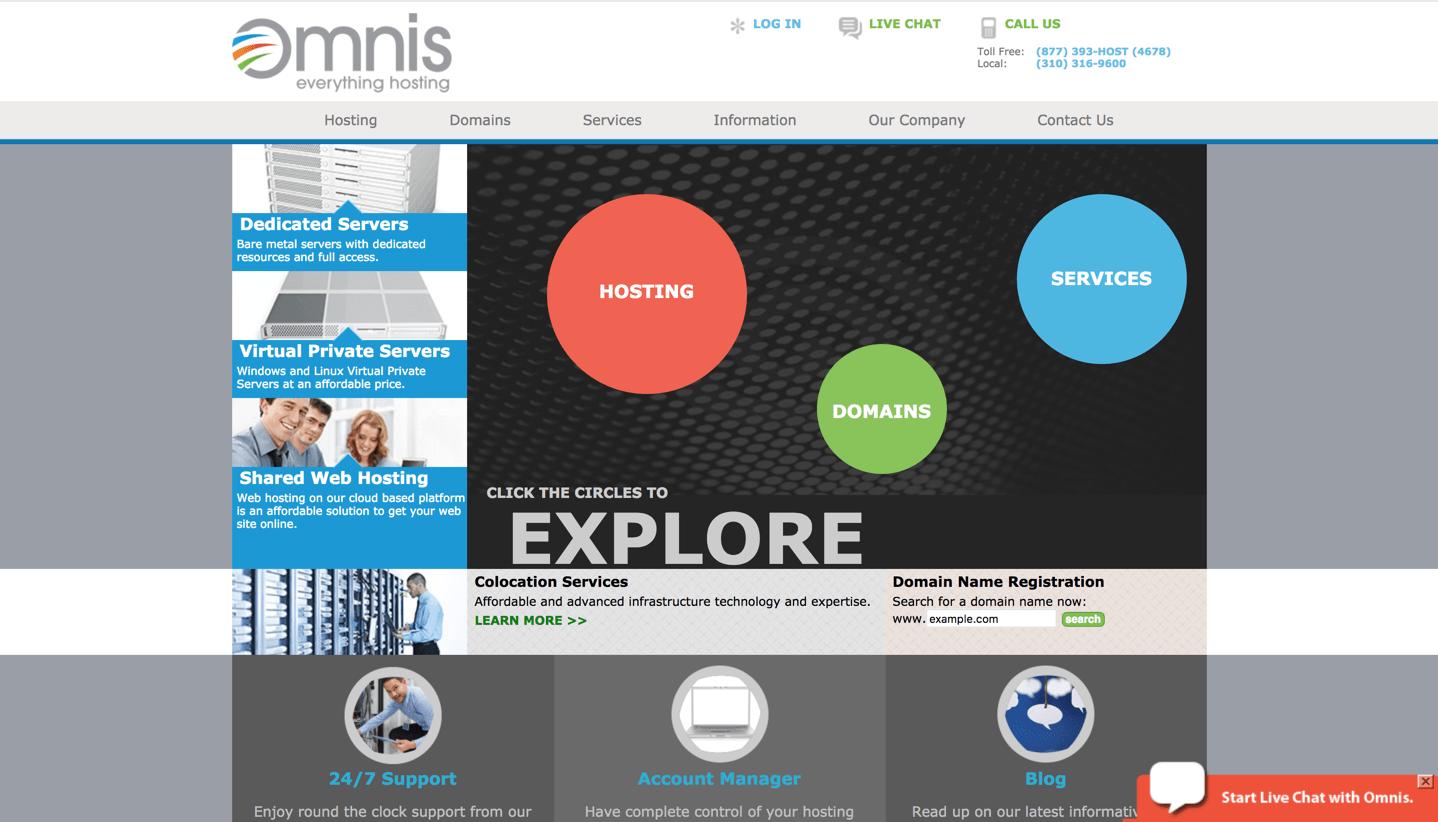 omnis networks homepage