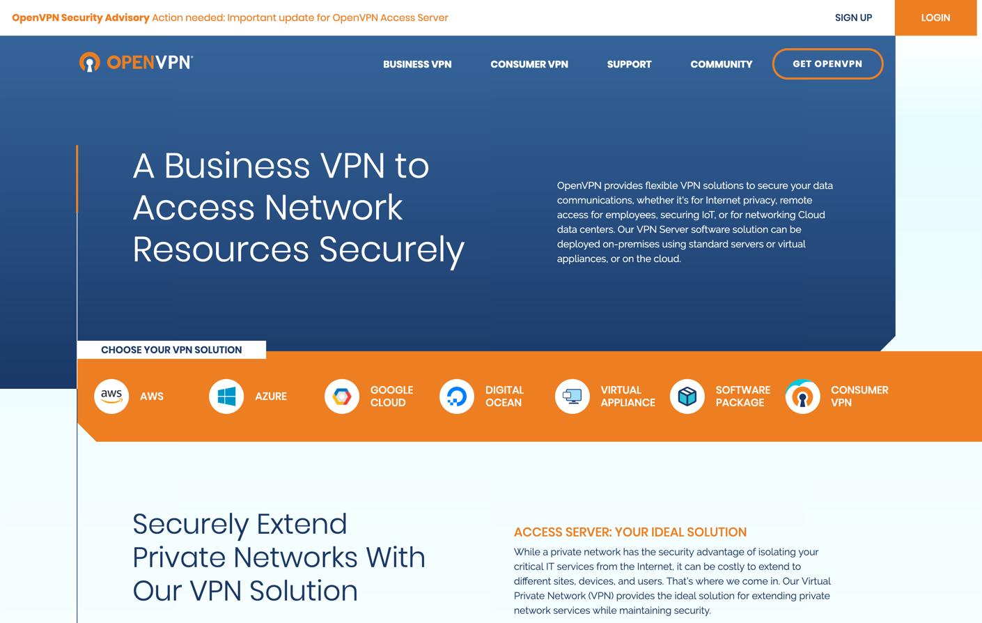 openvpn homepage