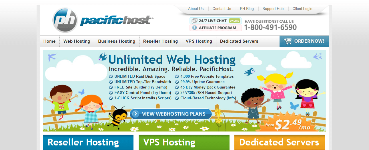 PacificHost Home