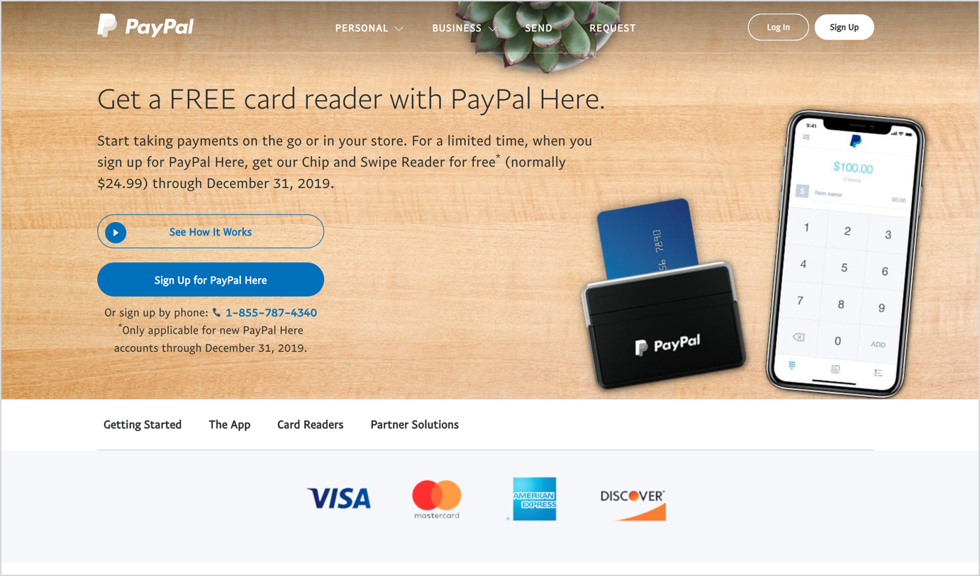 paypal here homepage