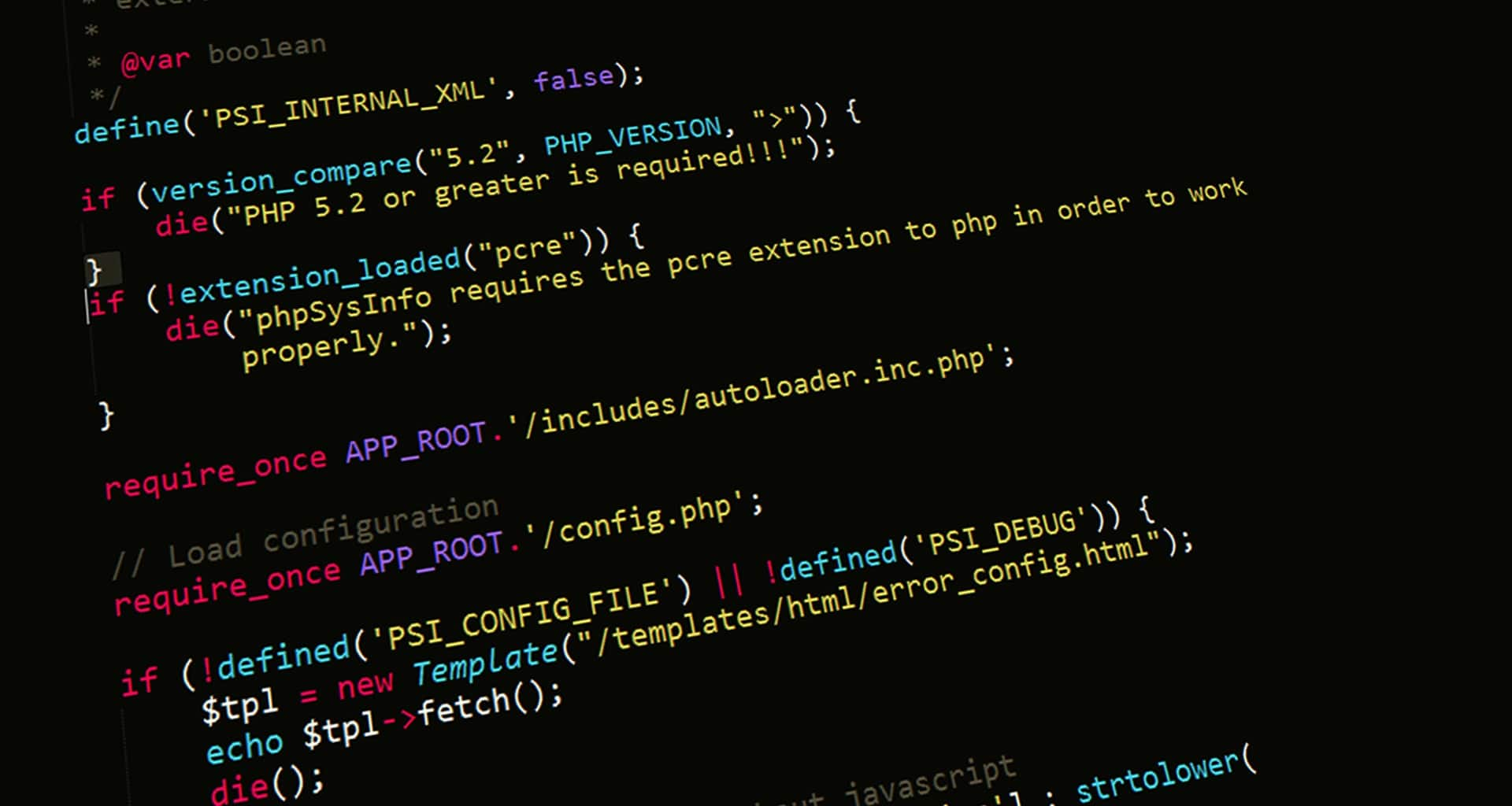 Caption: An example of PHP coding. Image courtesy of Pixabay and licensed under CC0