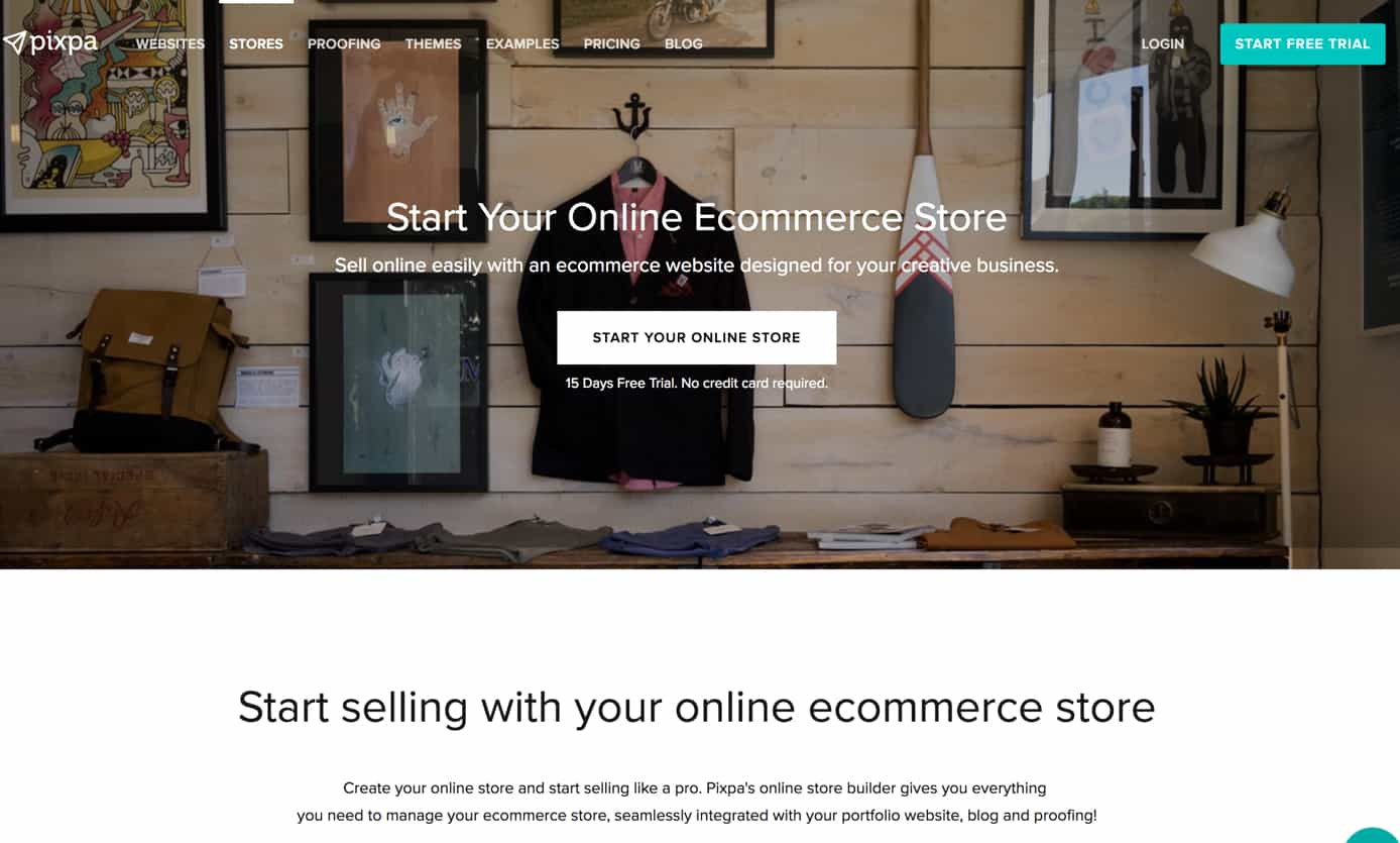 pixpa review e commerce features