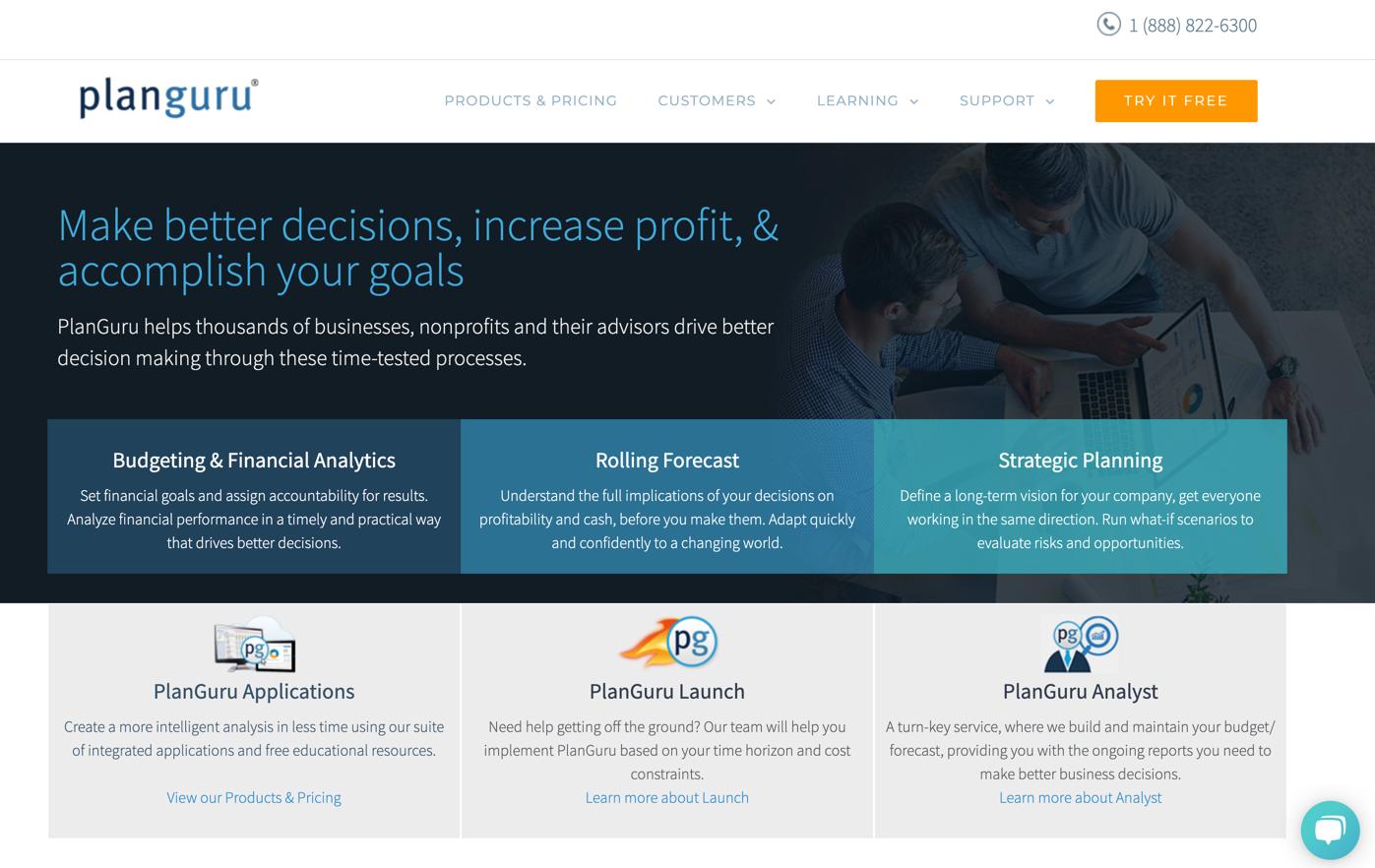 planguru homepage