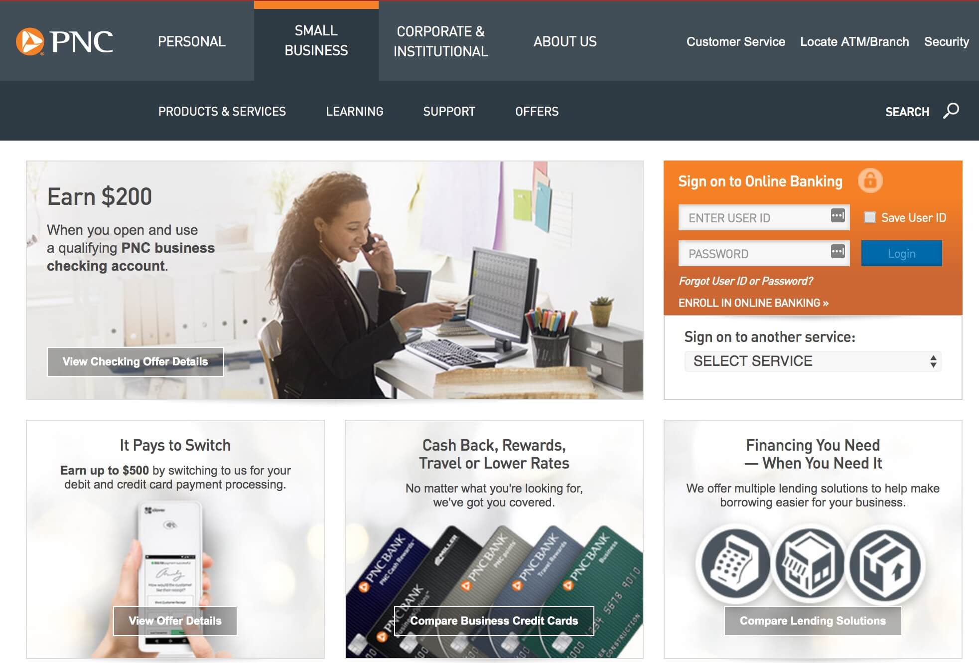 PNC business banking