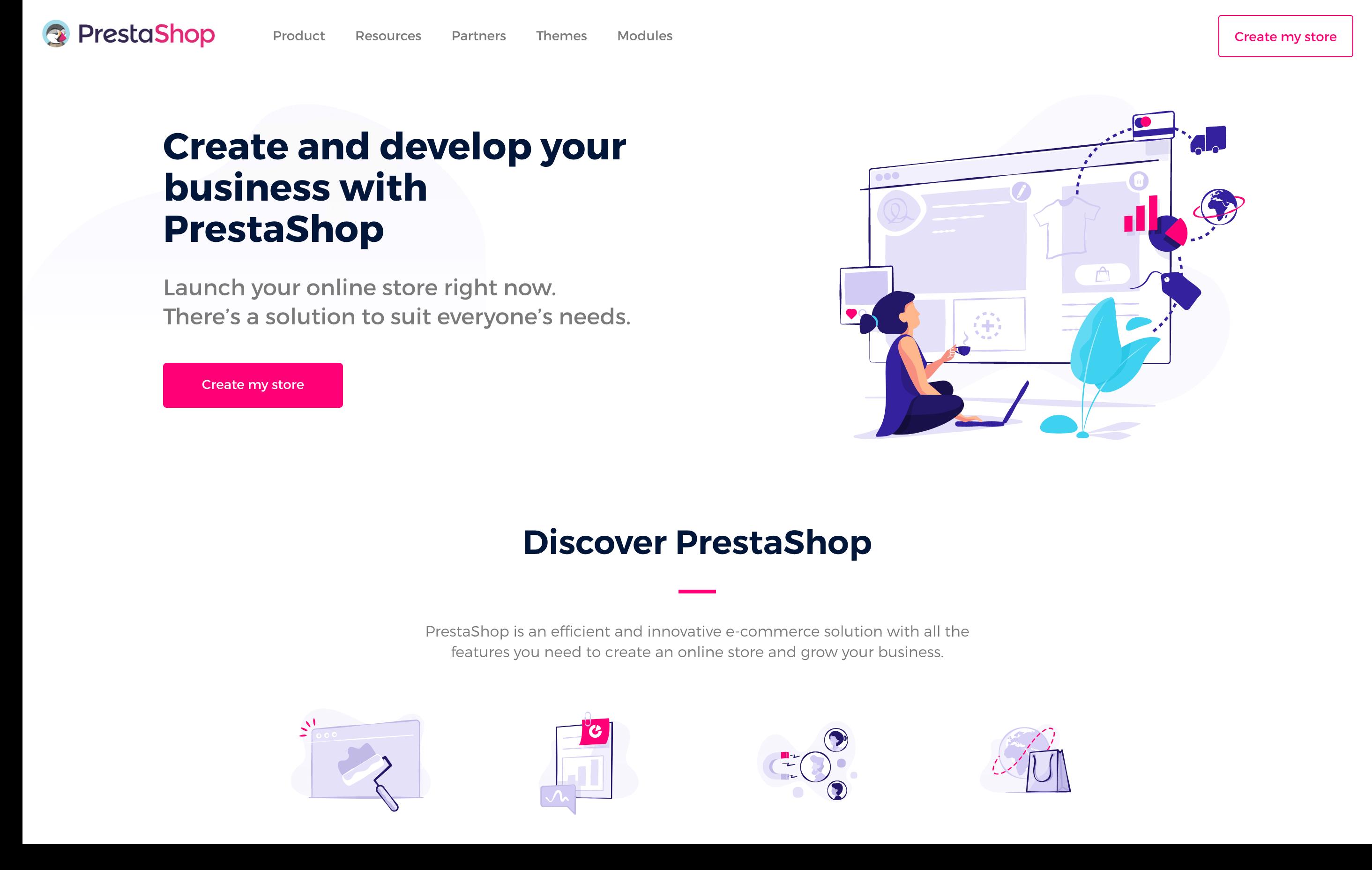 prestashop homepage