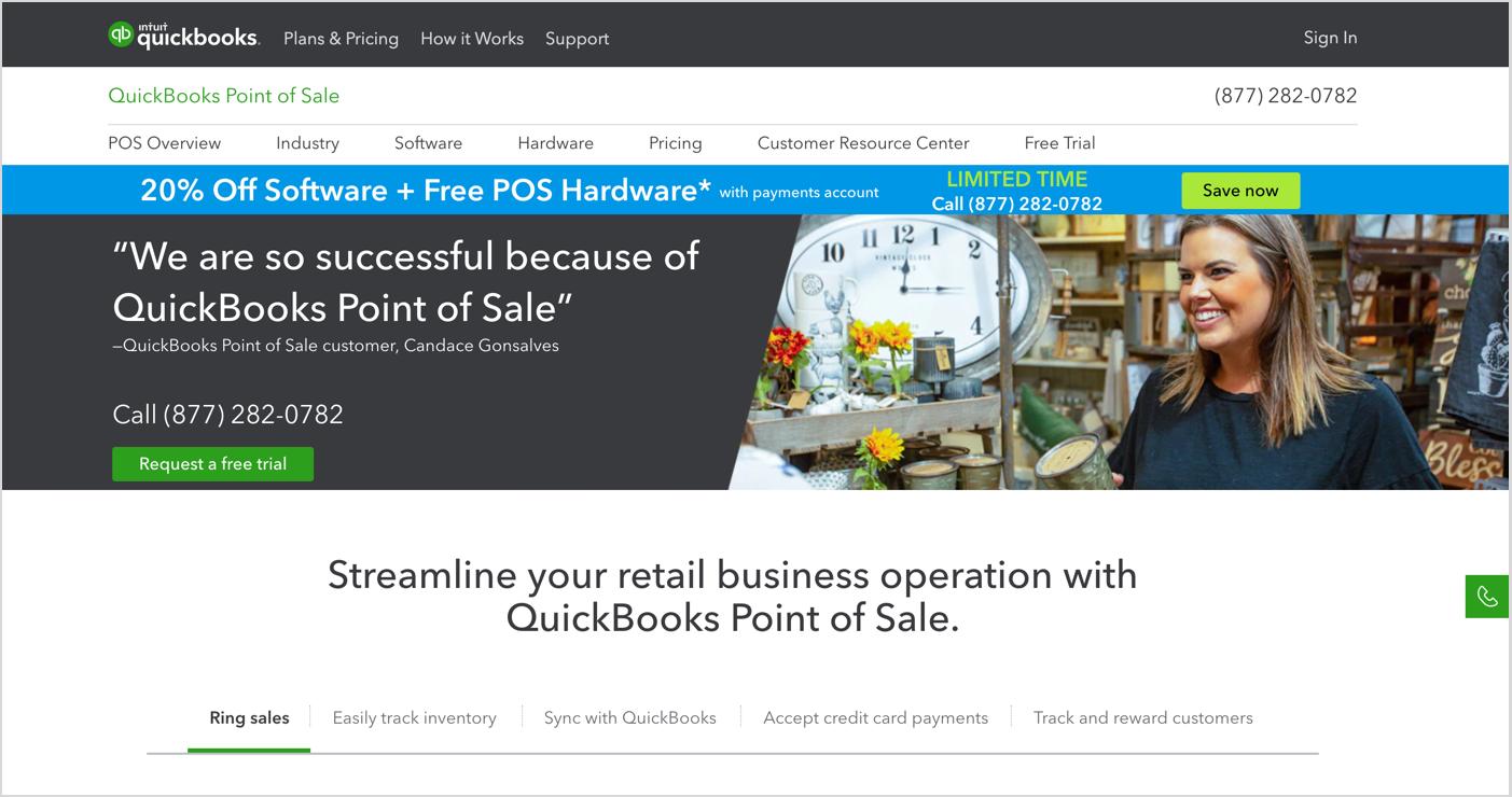 QuickBooks POS Homepage