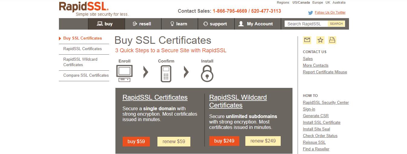 RapidSSL Buy Certificate