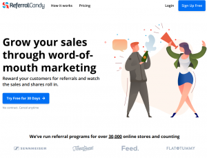 referralcandy homepage
