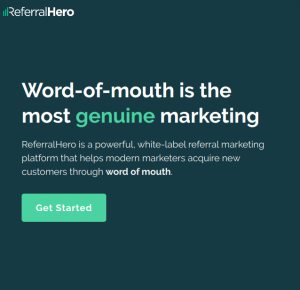 referralhero homepage