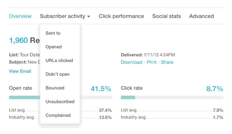 report segmenting