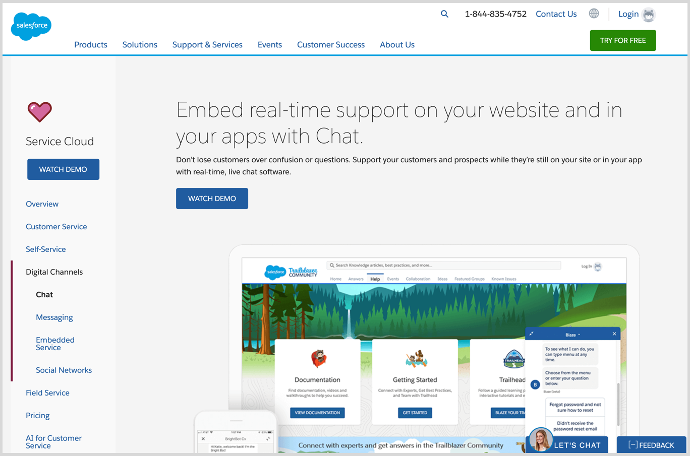 salesforce live chat