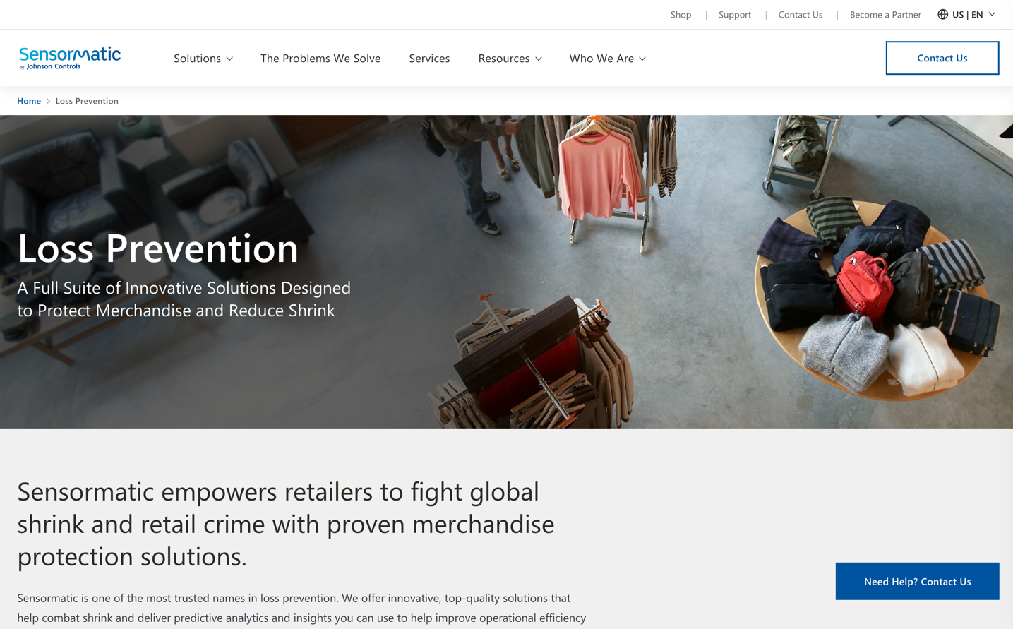 sensormatic homepage