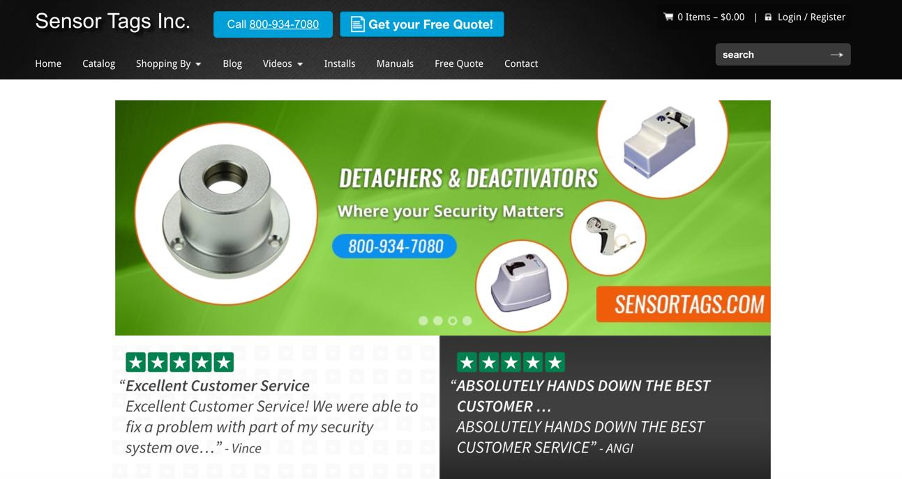 sensortags homepage