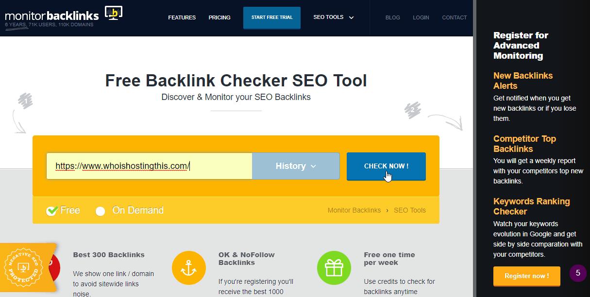 Checking Backlinks for SEO