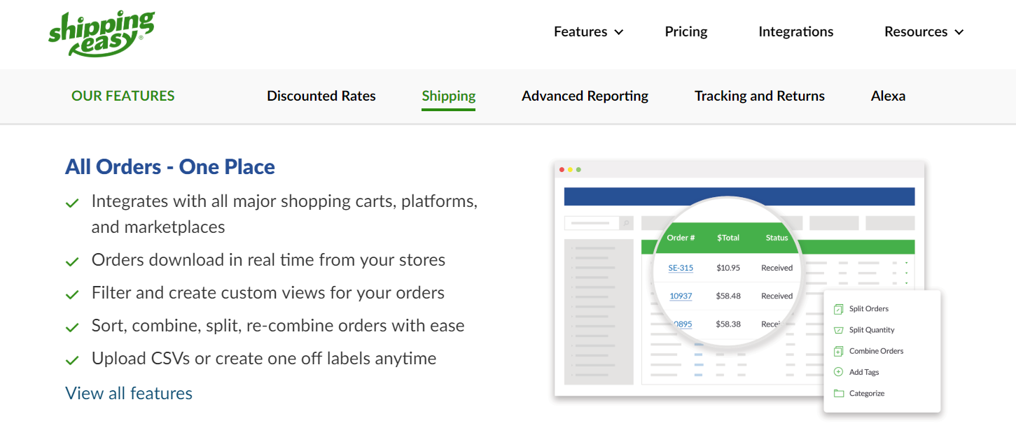 shippingeasy shipping software