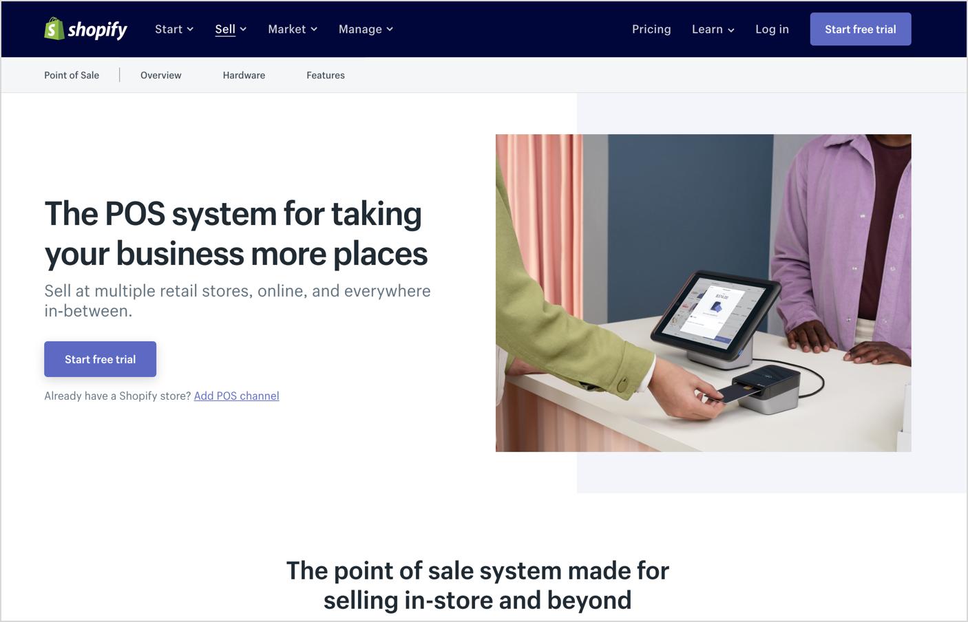 Shopify POS Homepage