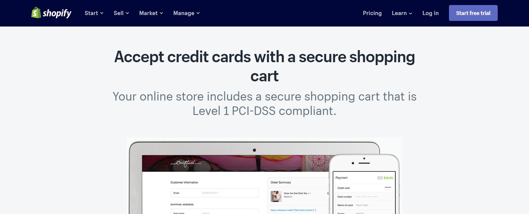 shopify shopping cart software