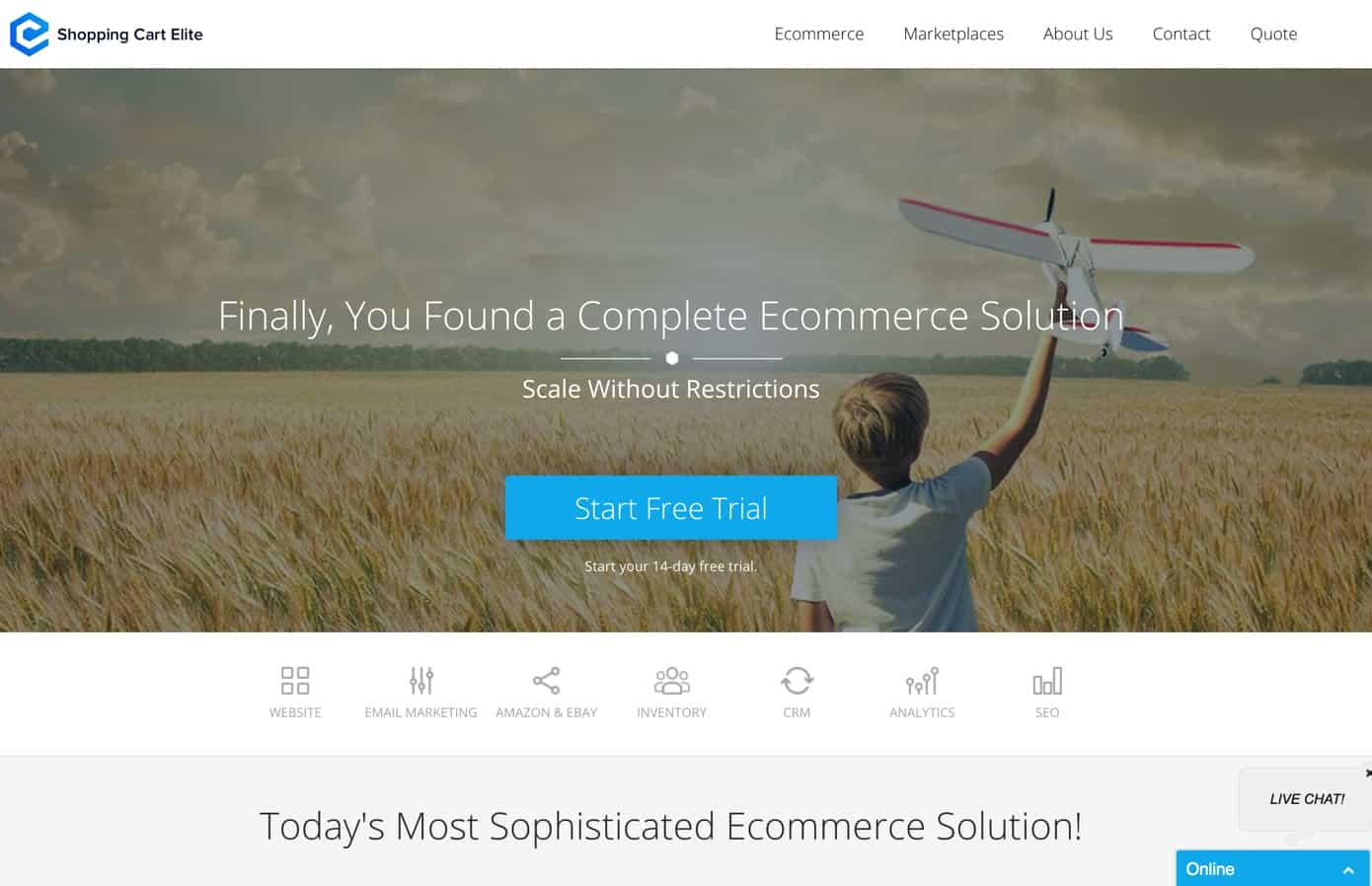 shopping cart elite review
