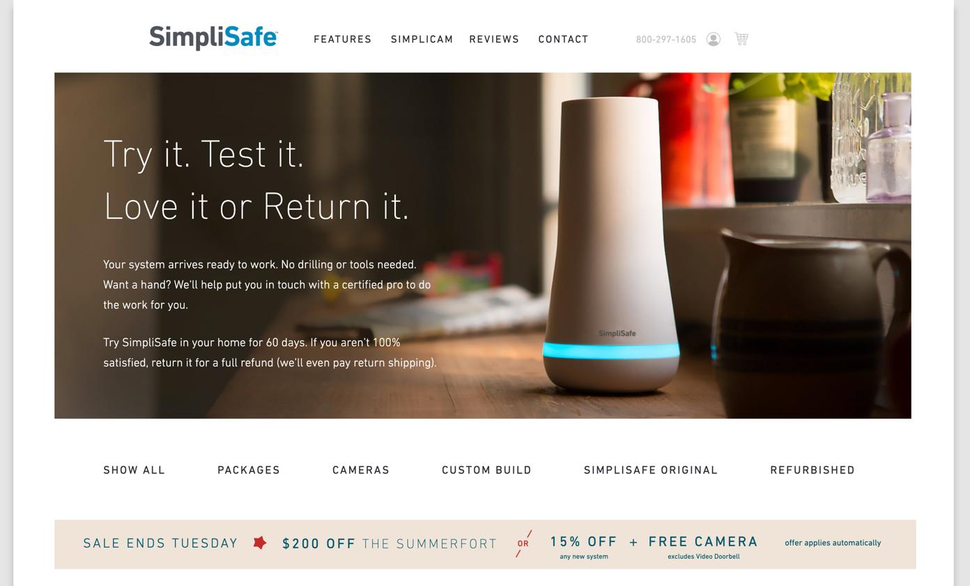 simplisafe homepage