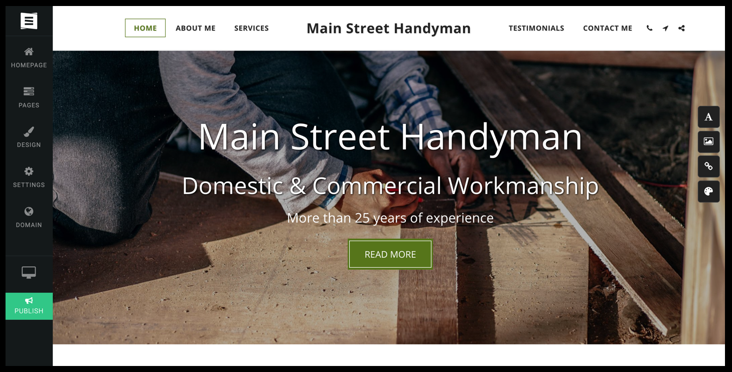 site123 landing pages