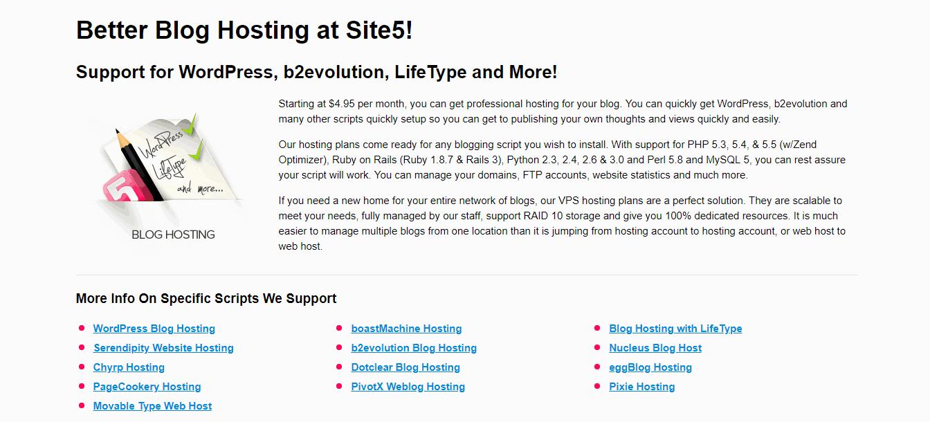Site5 Blogging