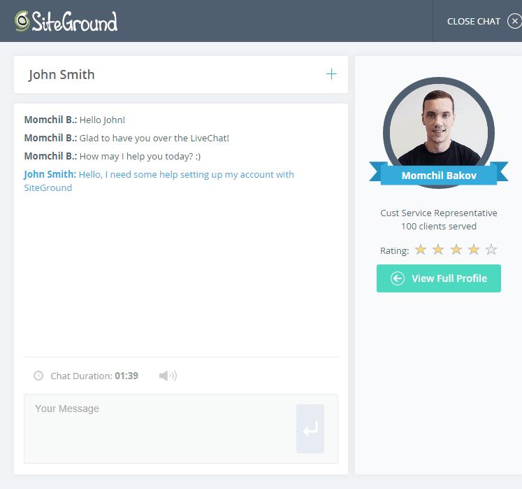 siteground customer service