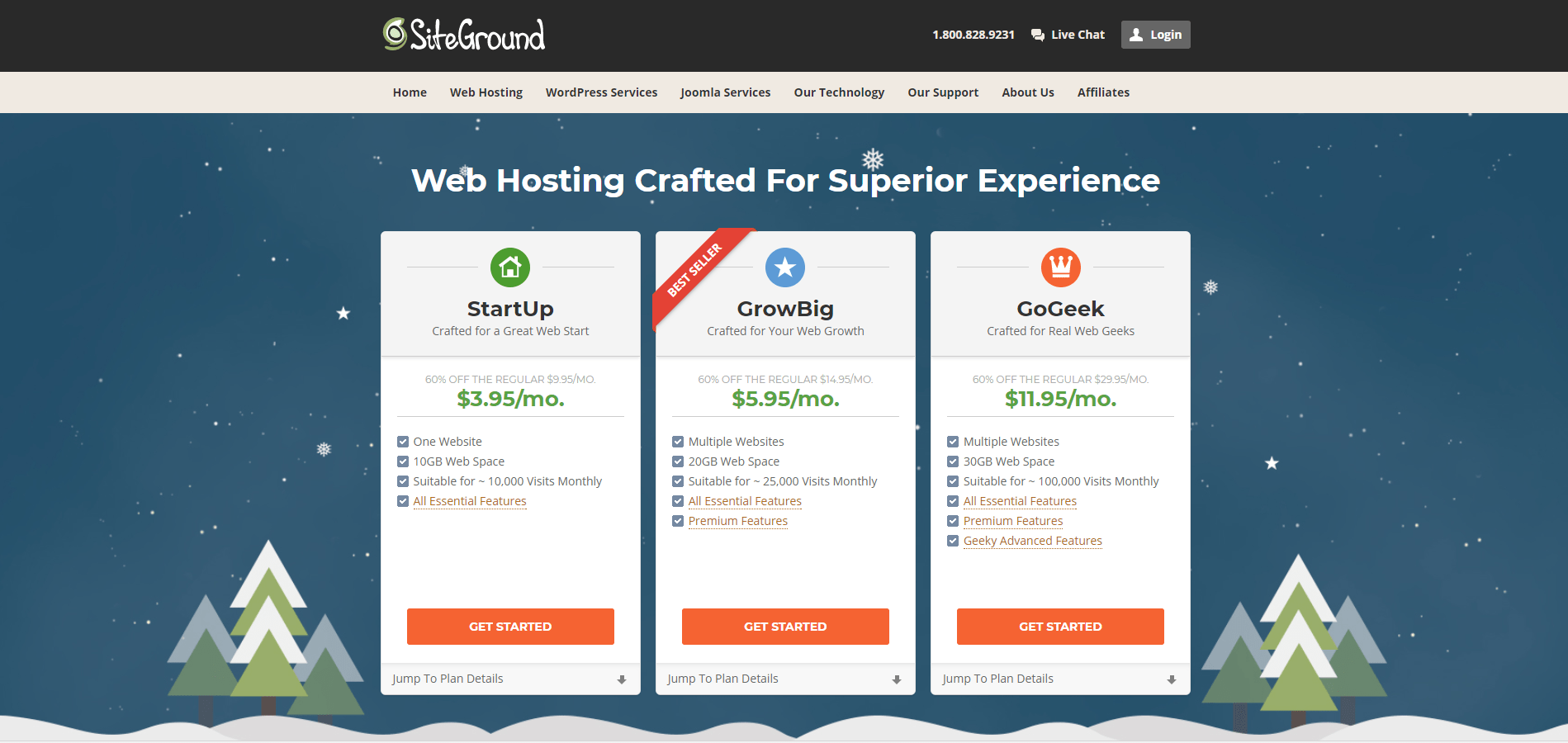 Linux hosting with SiteGround via WhoIsHostinThis.com