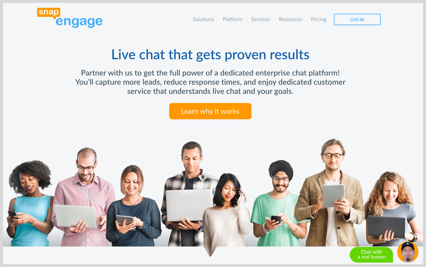 snapengage homepage