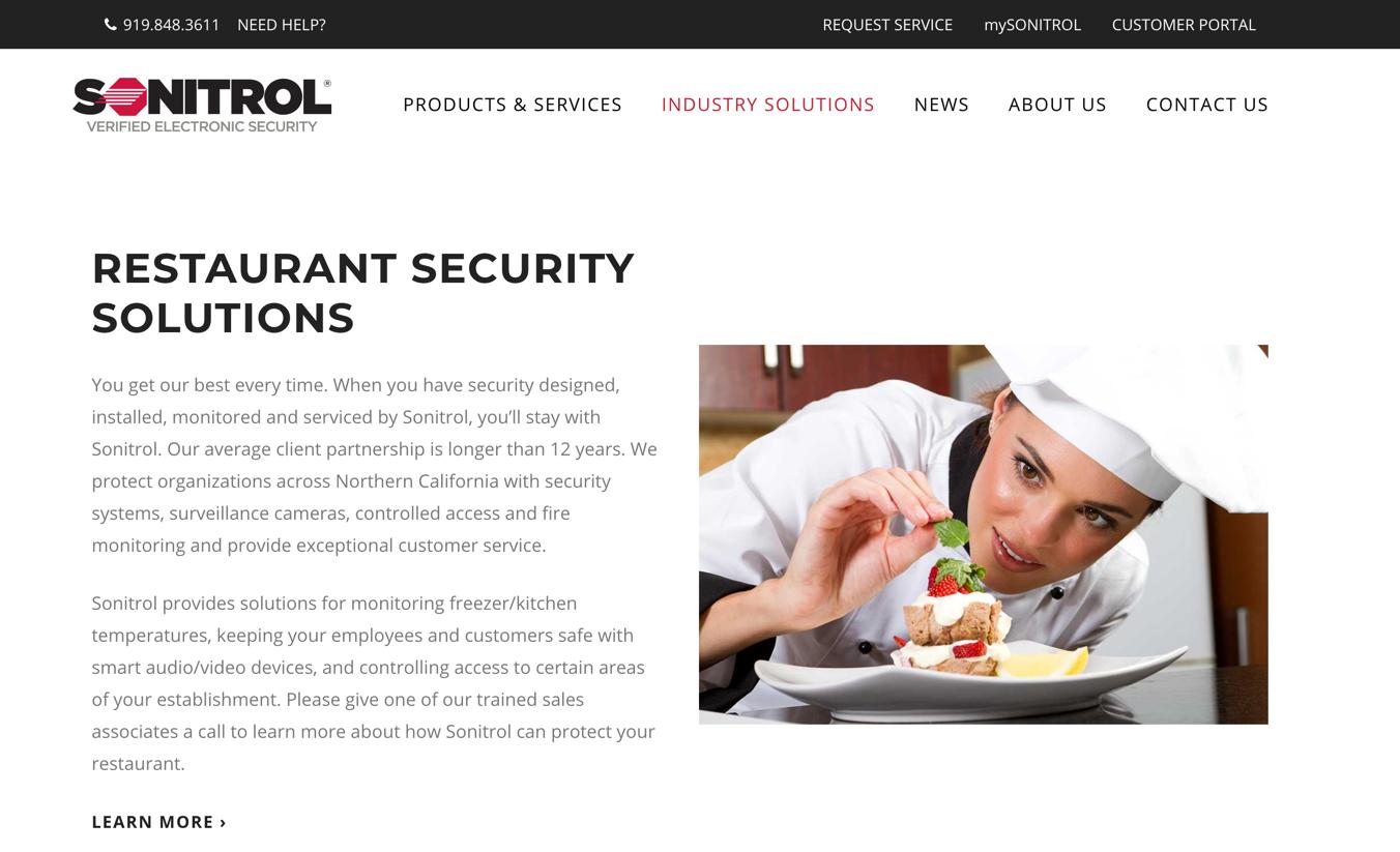 sonitrol homepage
