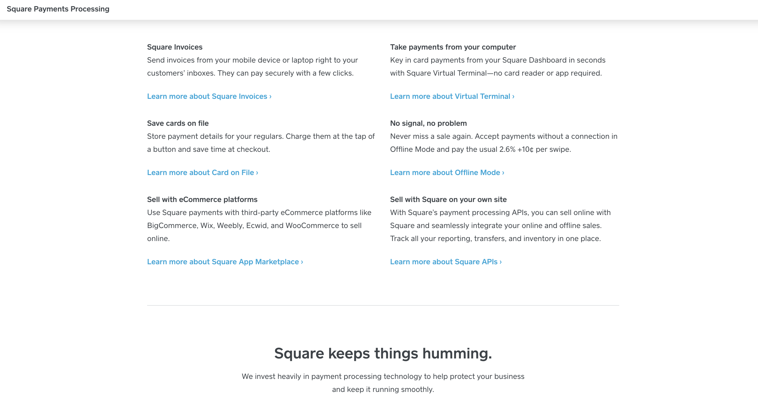 square's features