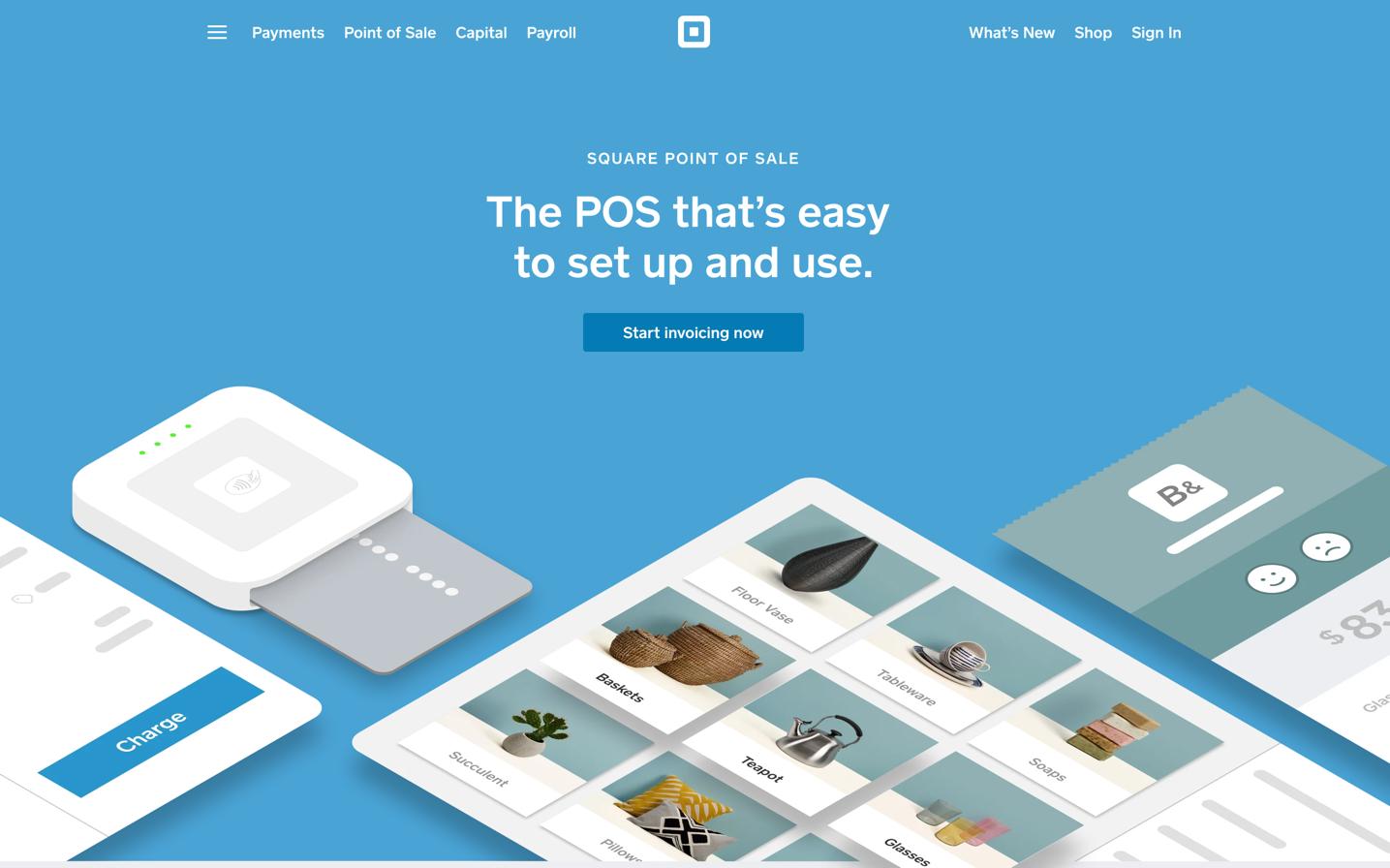 Square POS Homepage