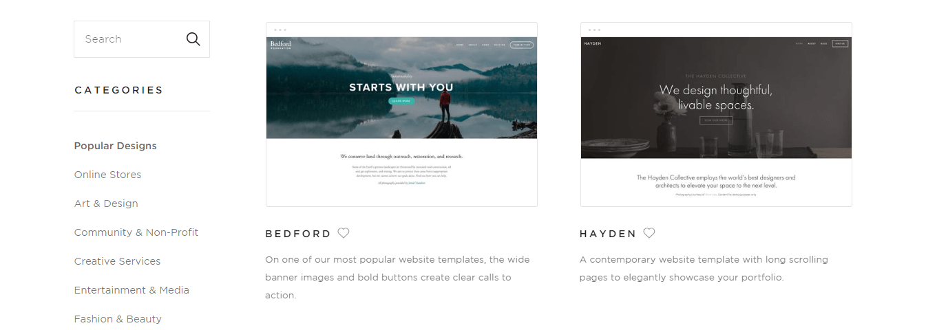 Squarespace Themes