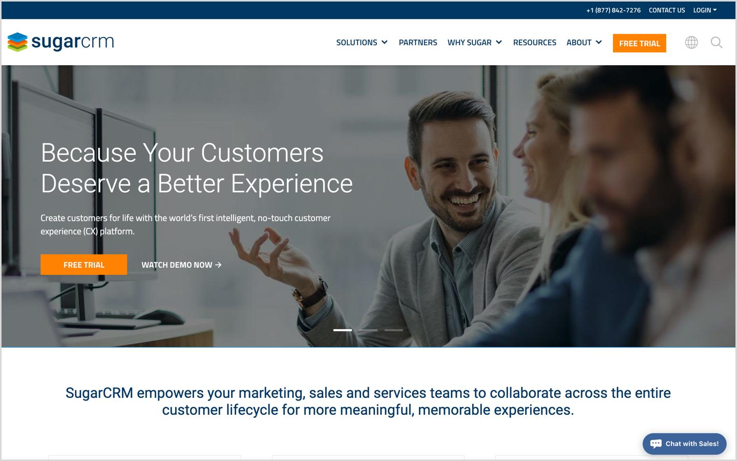 SugarCRM Homepage
