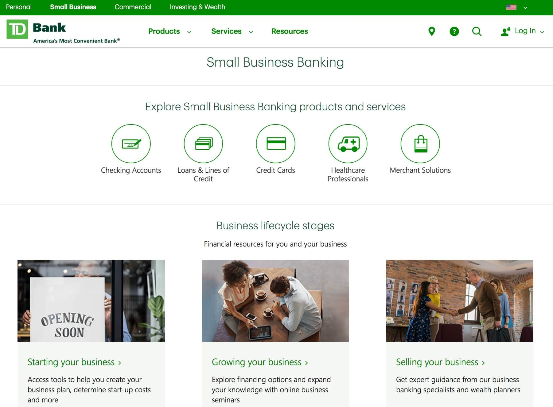 TD Bank business banking