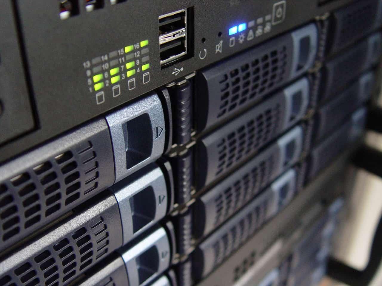Servers in a rack