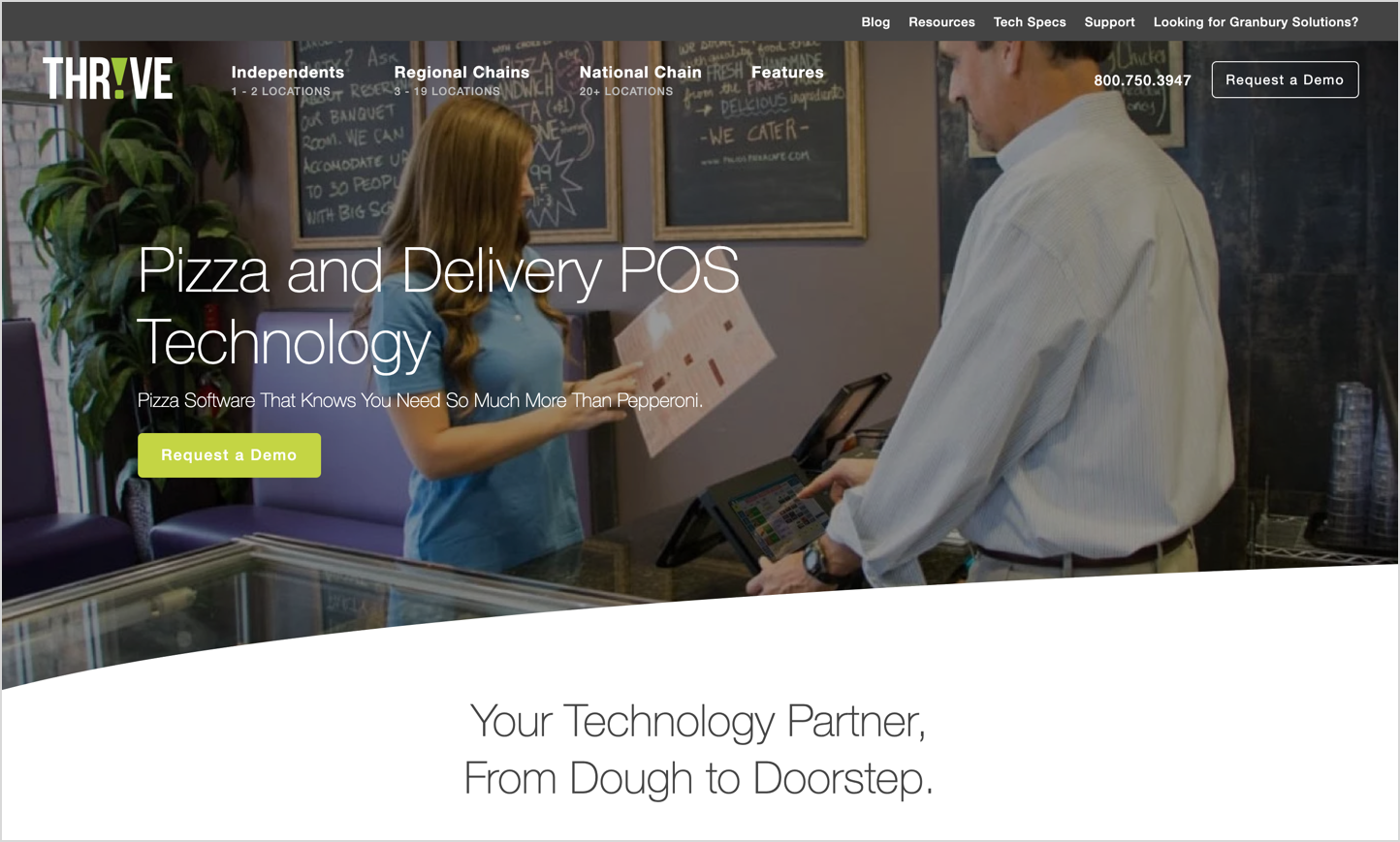 thrive pos homepage