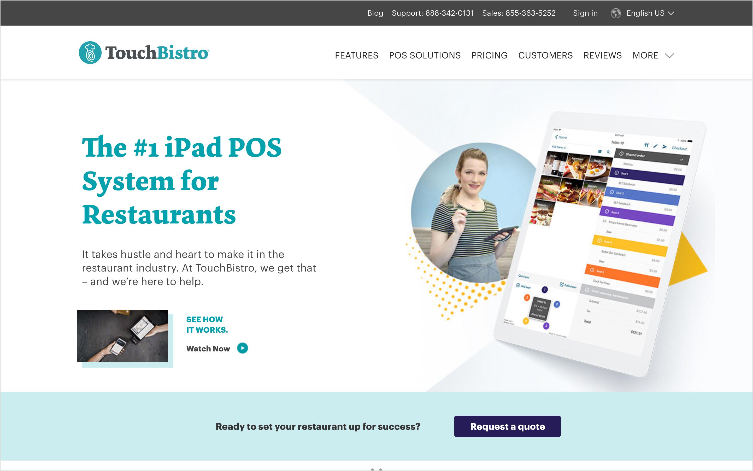 touchbistro homepage