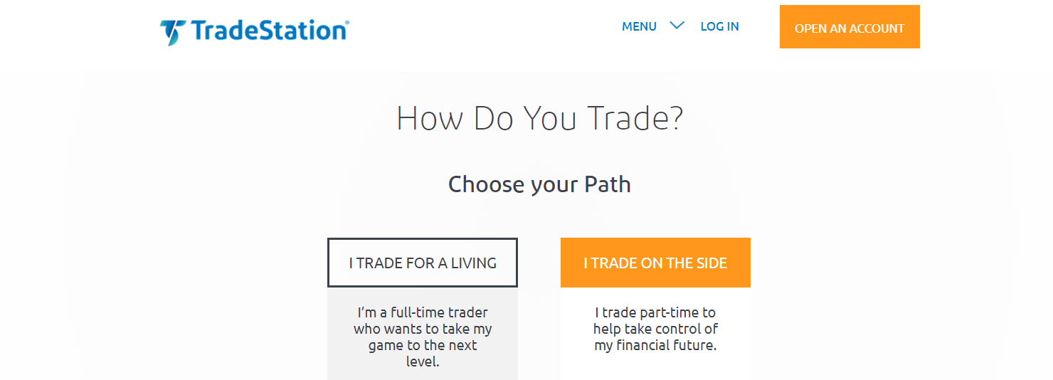 trade station online stock trading