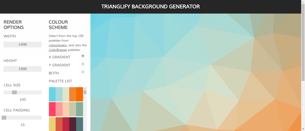 trianglify background generator