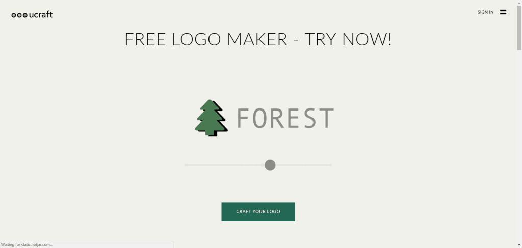 ucraft free logo maker
