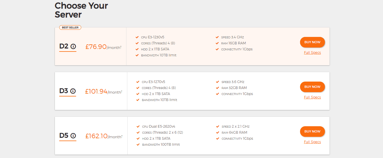 UK2 Dedicated Servers