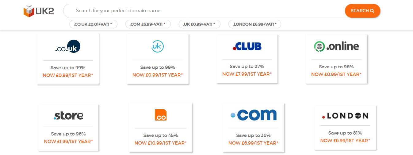 UK2 Domain Search